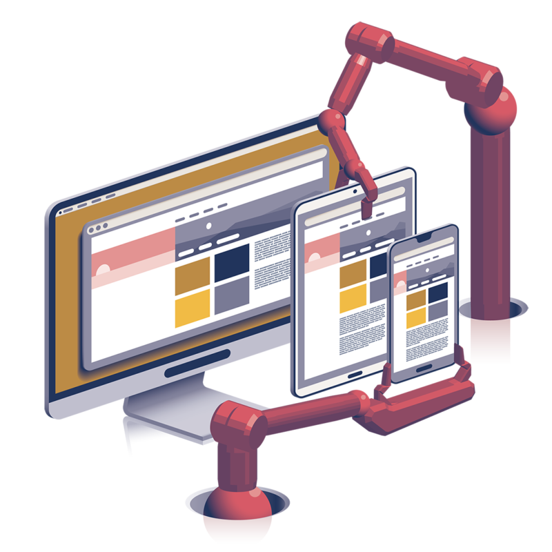 Main header illustration for web design.
